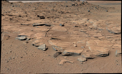 Inclined Martian Sandstone Beds Near 'Kimberley'