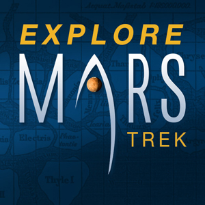 Mars Map: Explore Mars, its canyon lands and volcanoes and the rover landing sites!