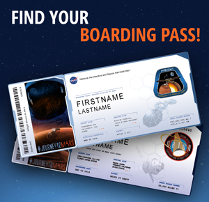 Sent your name on Mars? Find your boarding pass!