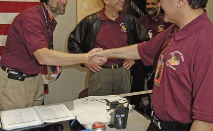View image for Mars Reconnaissance Orbiter Mission Team Members Celebrate Orbit Insertion Success