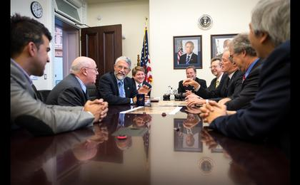 see the image 'Mars Science Laboratory Team Meets OSTP Director Holdren'