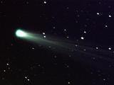 Comets are giant snowballs in space made of ice, frozen gases, rocks, and dust.