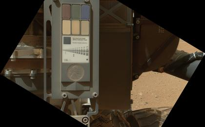 see the image 'Calibration Target for Curiosity's Arm Camera'