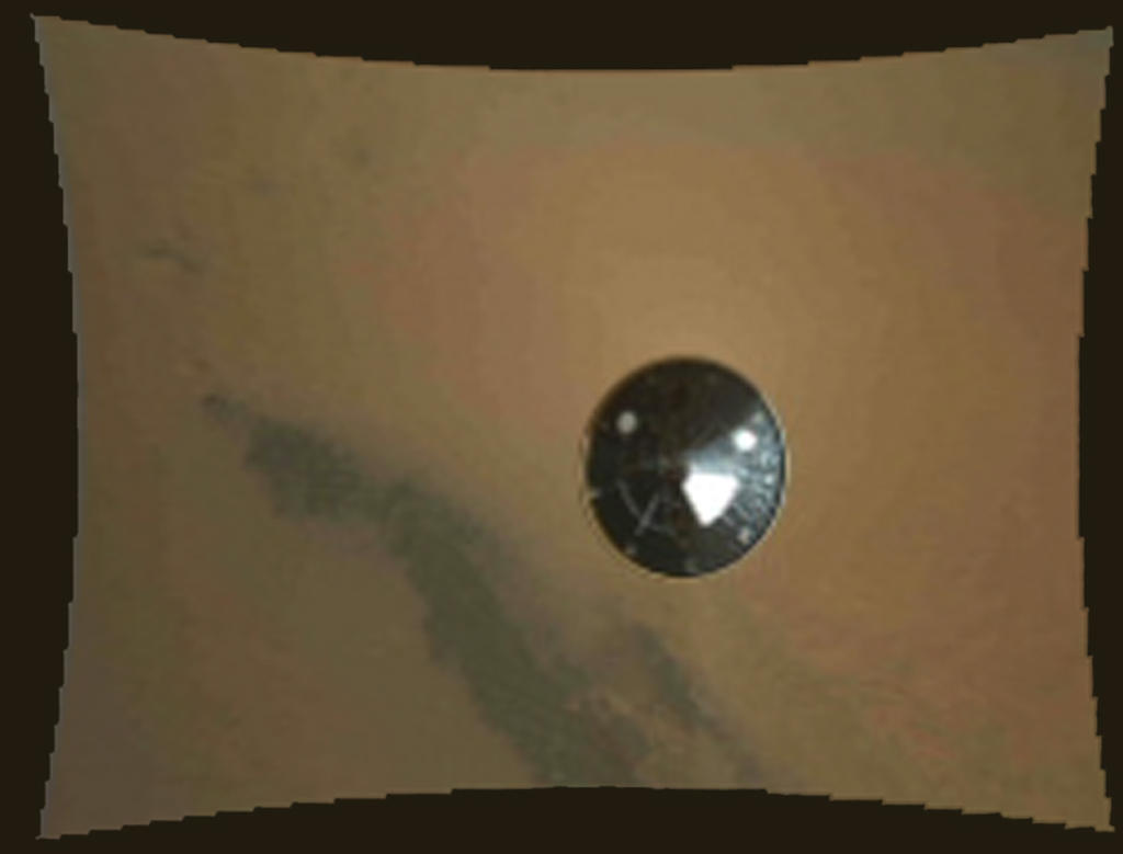 Curiosity's Heat Shield in View