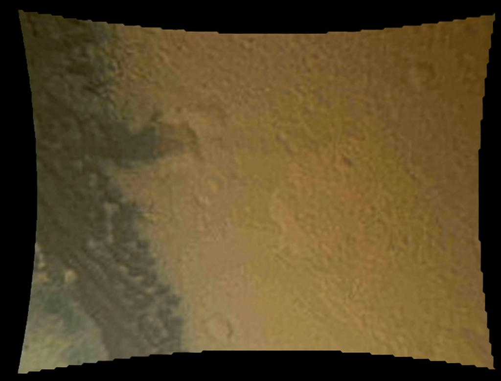 Martian Surface Below Curiosity