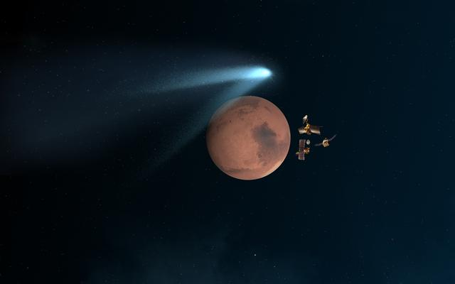 read the article 'All Three NASA Mars Orbiters Healthy After Comet Flyby'