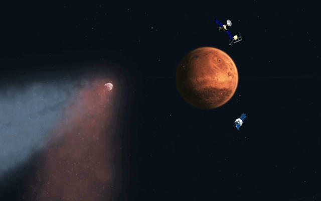 NASA's Mars Orbiters Maneuvers as Comet Siding Spring Approaching Mars