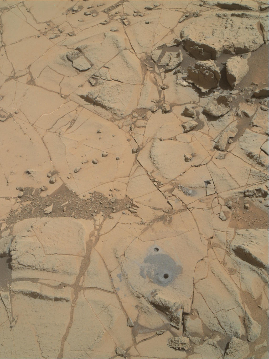 Site of Curiosity's Second Bite of Mount Sharp