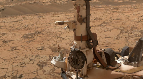 Mars Weather-Station Tools on Rover's Mast
