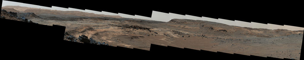 view 'Diverse Terrain Types on Mount Sharp, Mars'