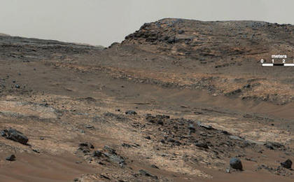 see the image 'Diverse Terrain Types on Mount Sharp, Mars'