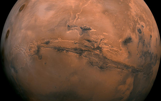 Mars Global View of Valles Marineris