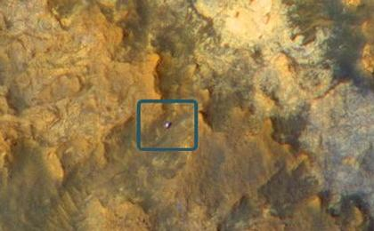 read the article 'Mars Orbiter Sees Curiosity Rover in 'Artist's Drive''
