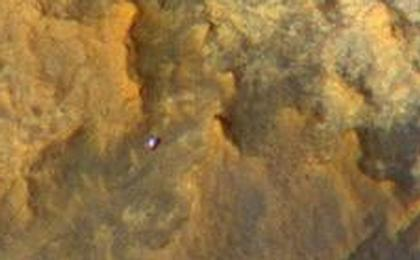 read the article 'Mars Orbiter Sees Curiosity Rover in 'Artist's Drive' (Unlabeled)'