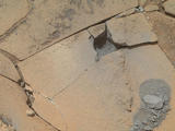 read the article 'Crystal-Rich Rock 'Mojave' is Next Mars Drill Target'
