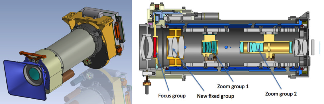 Mars 2020 instrument of Mastcam-Z