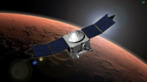 Artist Concept of NASA's Mars Atmosphere and Volatile Evolution (MAVEN)