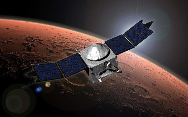 Artist Concept of NASA's MAVEN Orbiter