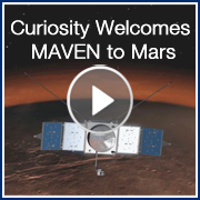 Curiosity Welcomes MAVEN to Mars
