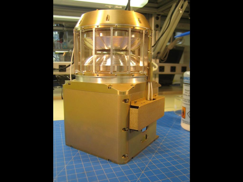 The Solar Wind Ion Analyzer (SWIA) is a part of the Particles and Fields (P & F) Package and measures the solar wind and magnetosheath ion density and velocity.