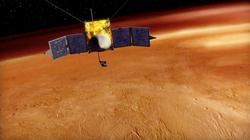 Artist's Concept Of MAVEN Orbiting Mars