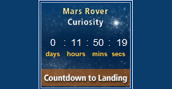 Screen capture of the MSL countdown to landing clock.