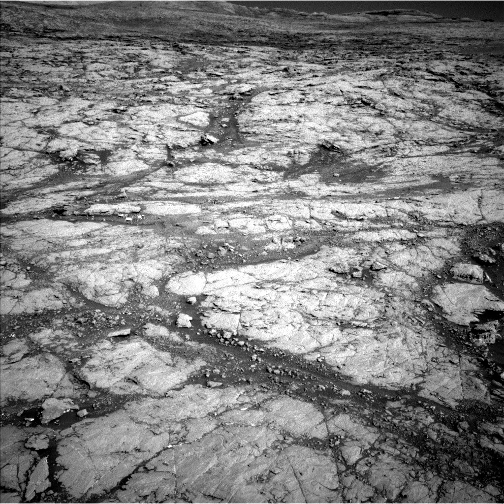 This image was taken by Navcam: Left B (NAV_LEFT_B) onboard NASA's Mars rover Curiosity on Sol 1850 (2017-10-20 01:03:42 UTC).