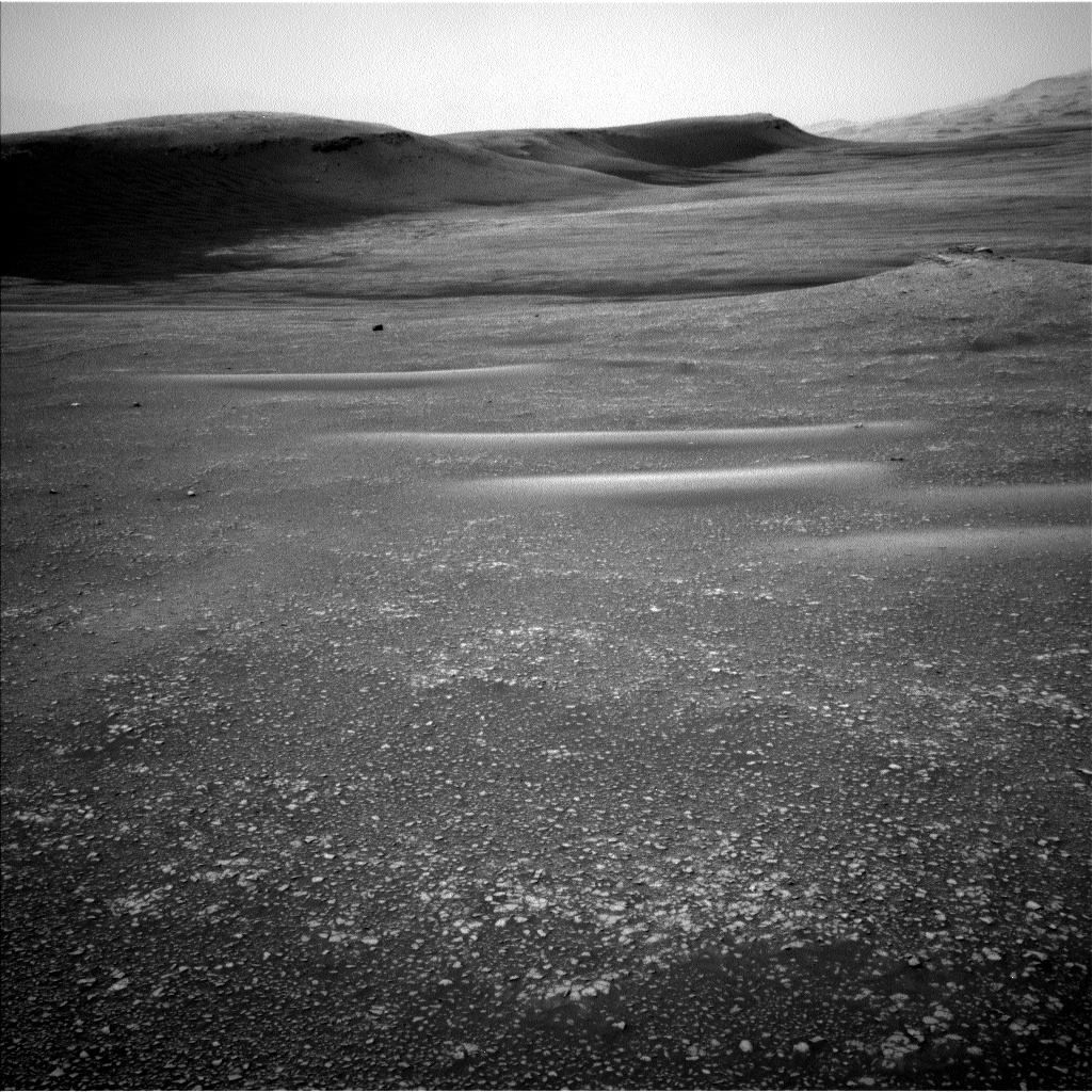 This image was taken by Navcam: Left B (NAV_LEFT_B) onboard NASA's Mars rover Curiosity on Sol 2357 (2019-03-24 23:24:07 UTC).