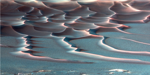 Endurance Crater's Dazzling Dunes after