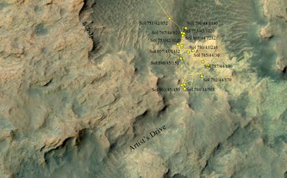 read the article 'Curiosity Heading Away from 'Pahrump Hills''