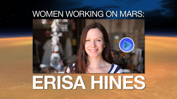Watch the video 'Woman Working on Mars: Erisa Hines'