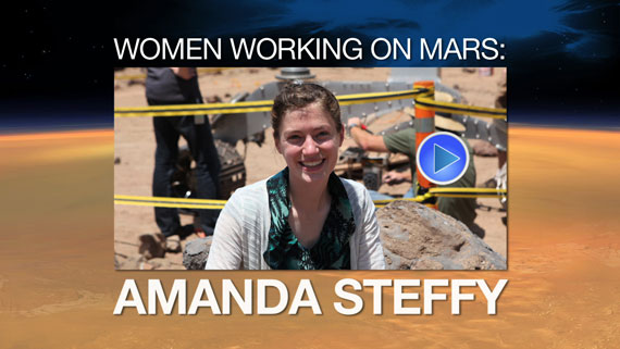 Watch the video 'Woman Working on Mars: Amanda Steffy'