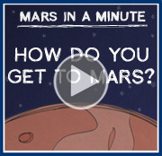 Video: Mars in a Minute: How Do You Get to Mars?