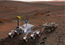 see the image 'Size Comparison, Mars Science Laboratory and Mars Exploration Rover (Artist's Concept)'