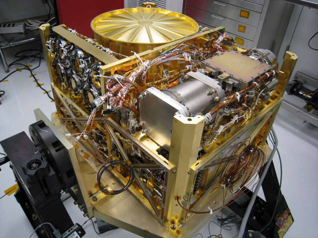 The Sample Analysis at Mars (SAM) instrument, at NASA's Goddard Space Flight Center, Greenbelt, Md., will analyze samples of material collected by the rover's arm.