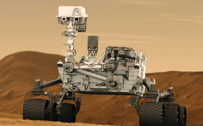 see the image 'Mars Rover Curiosity in Artist's Concept, Tall'