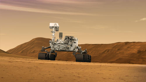 Mars Rover Curiosity in Artist's Concept, Wide