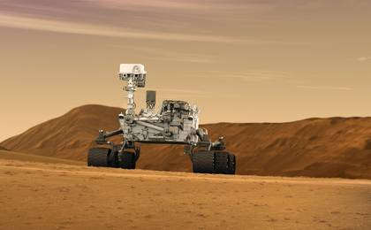 see the image 'Mars Rover Curiosity in Artist's Concept, Wide'
