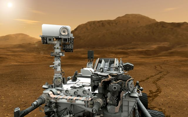 Mars Rover Curiosity in Artist's Concept, Close-up