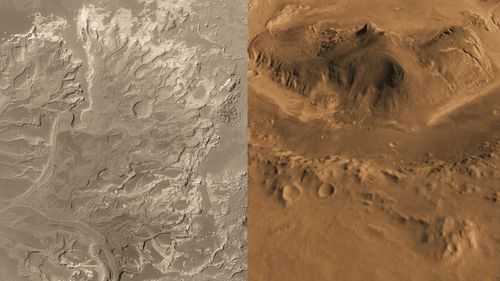Two Finalist Landing Sites on Mars