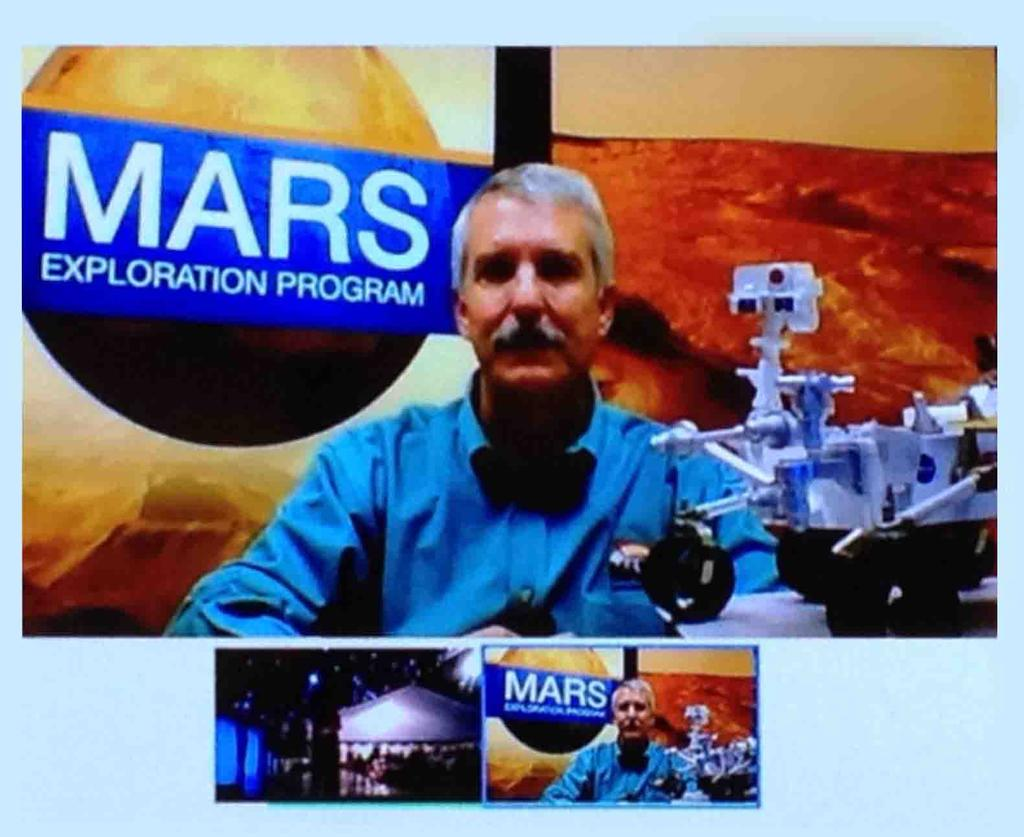 "On Saturday, October 20, Mars Exploration Program Director Doug McCuistion participated on a virtual ""Google+ Hangout"" live link with Glenelg, Scotland residents."