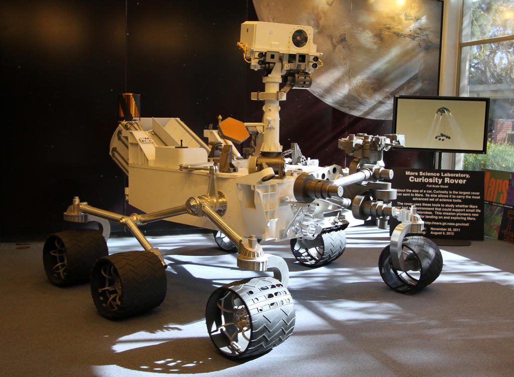 A model of the Mars rover Curiosity, similar to the one shown here, will ride in the Inaugural Parade on Jan. 21. Image credit: NASA/JPL-Caltech