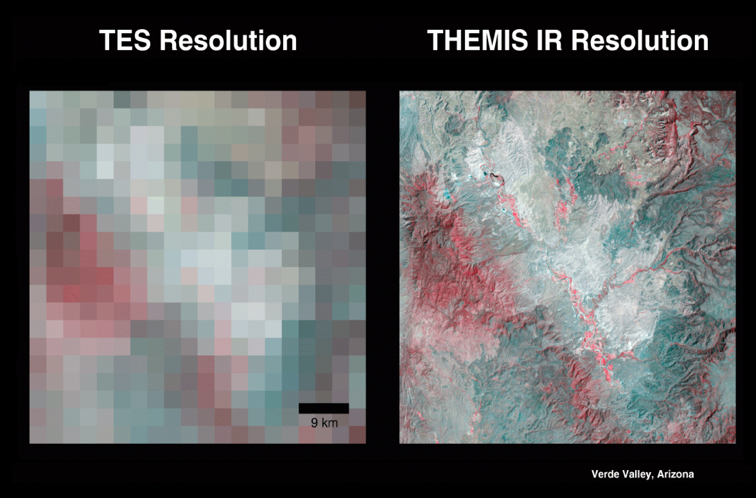 TES Resolution compared to THEMIS Resolution