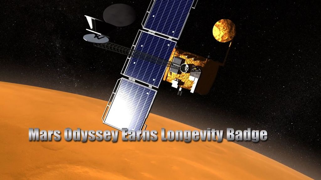 Mars Odyssey Earns Longevity Badge