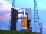 This image was taken on December 4, 2014 with the Orion spacecraft and Delta IV Heavy rocket, awaiting for launch.