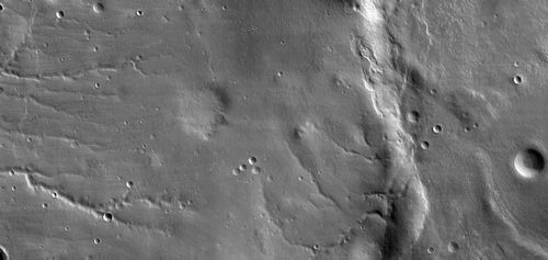 This view shows the ground covered in the first image of Mars taken by the High Resolution Imaging Science Experiment camera (HiRISE) on NASA's Mars Reconnaissance Orbiter