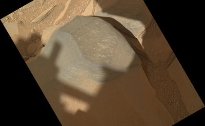 see the image ''Bathurst Inlet' Rock on Curiosity's Sol 54, Context View'