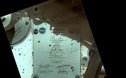 see the image 'President's Signature Onboard Curiosity'