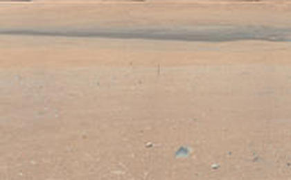 First High-Resolution Color Mosaic of Curiosity's Mastcam Images (White-Balanced Colors)