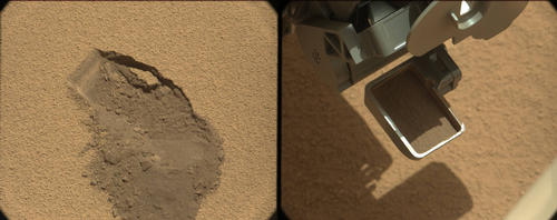 First Scoop by Curiosity, Sol 61 Views
